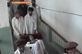 Injured residents of Mir Ali are arriving by the dozens at hospitals in the nearby town of Bannu [Al Jazeera]