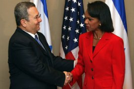 Condoleezza Rice, right, will hold three days of meetings in Israel and the West Bank [AFP]