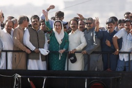Huge crowds as Bhutto ends exile