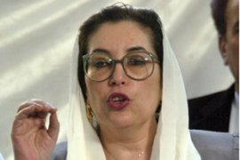 "Benazir Bhutto said the blasts were an ""attack on democracy"". [AFP]"