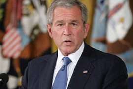 Bush is trying to shore up international opposition against Iran [AFP]