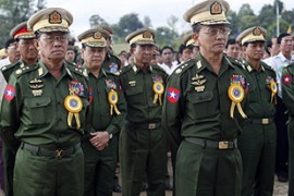 Campbell called on Myanmar's ruling generals to respect the human rights of their people [AFP]
