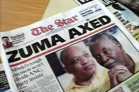 Mbeki fired Zuma in 2005 for alleged involvement ina corruption case related to arms dealings
