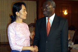 Aung San Suu Kyi's statement came shortly after she met Gambari in Yangon on Thursday [AFP/UNIC]