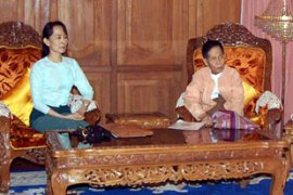 Suu Kyi met officials from her National League for Democracy party for the first time since 2004 [AFP]