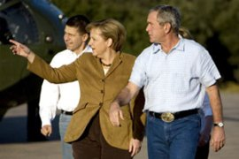 Bush normally reserves invitations to his Texas ranch for close allies [AFP]