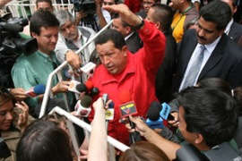 Chavez has demanded an apology from Spain's to acknowledge the King's 'attack' [AFP]