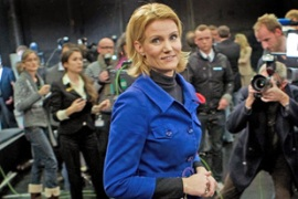 Helle Thorning-Schmidt, of the Social Democrats , has criticised the government for cutting taxes [AFP]