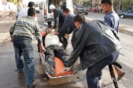 A suicide bomber struck in Kirkuk on Thursday, killing seven people and wounding 20 more [AFP]
