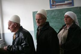 The campaign was dominated by party pledges to tackle 60 per cent unemployment in Kosovo [AFP]