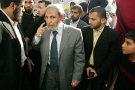 "Hamas's Mahmoud al-Zahar said the Annapolis meeting ""doesn't scare us"" [Reuters]"