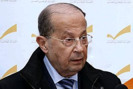 Aoun said that his deal would be available until one hour before the president's mandate ends [AFP]