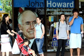 Howard has said he is confident of victory despite polls pointing to a landslide for Labor [AFP]