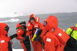 More than 150 passengers and crew spent hours in the frozen Antarctic waters before being rescued [AFP]