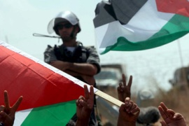 West Bank wall divides neighbours