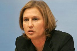 Livni will continue to be a chief negotiator in Israeli negotiations with the Palestinians [AFP]