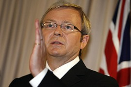 Rudd said the apology would come after consultations with Aborigine leaders [AFP]