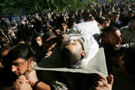 Israeli soldiers killed three Palestinians and wounded four more on Monday [AFP]