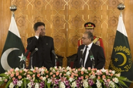 Musharraf resigned as head of the army a day earlier[Reuters]