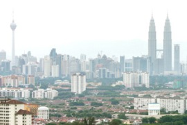 The UN says Malaysia's carbon dioxide emissions increased by 221 per cent from 1990 to 2004 [EPA]
