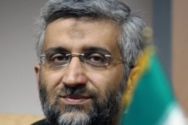 Jalili said he defended Iran's rights to nuclear technology at talks with the EU [AFP]