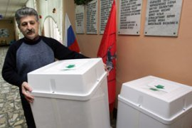 The poll is being portrayed as a referendumon the presidency of Vladimir Putin [AFP]