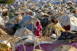 An estimated 2.5 million people have been displaced by the fighting in Darfur [EPA]