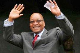 Jacob Zuma was elected leader of the ruling ANC last month beating president Thabo Mbeki [EPA]