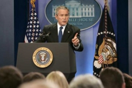 A US intelligence estimate appears to have undercut Bush's claims about Iran's nuclear programme [EPA]