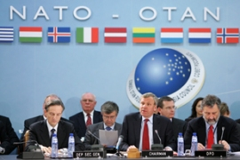 Nato is against any hasty declaration of independence for Kosovo [AFP]