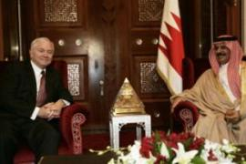 Gates, seen here with Bahrain's King Hamad, urged closer Gulf Arab security co-operation [AFP]