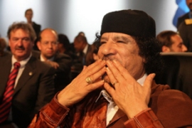 Muammar Gaddafi called for compensation from former colonial powers [AFP