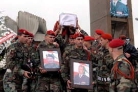 Lebanon bids farewell to general