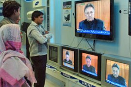 "In a televised address Musharraf told Pakistanis democracy was ""again on track"" [AFP]"