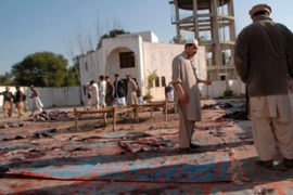 Police say the bomber detonated explosives as Eid prayers were being conducted [Reuters]