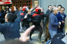 On Sunday, police broke up a demonstration by Basque nationalists in Bilbao [AFP]