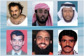 Khalid Sheikh Mohammed, top left, is alleged to have planned the September 11 attacks