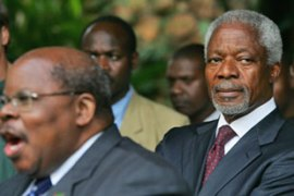 Annan, who is mediating the crisis talks, askedOdinga to call off the demonstrations [AFP]