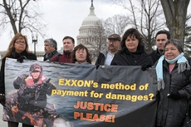 Alaskans have called on Exxon to do more to clean up the spill [AFP]