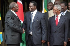 Kenyan rivals agree to share power