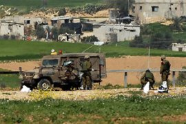 An Israeli military spokesman said a jeep was hit by Thursday's blast from a roadside bomb [AFP]