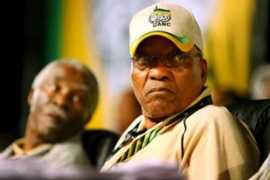 Zuma, right, is expected to take over from Mbeki when he steps down as president [EPA]