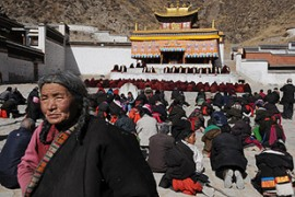 "Chinese authorities says Tibet is once again ""safe"" for foreigners to visit [AFP]"