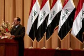 Al-Maliki is under pressure from the US to promote a lasting peace in Iraq [AFP]