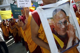 The Chinese government says the Dalai Lama is trying to split Tibet from China [Reuters]