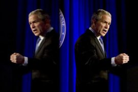 President Bush vowed 'no retreat' as he defended his decision to invade Iraq [AFP]