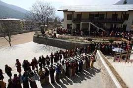 Bhutan's king had called for a high turnout among the kingdom's 300,000 eligible voters [AFP]