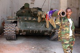 Ethiopian troops are trying to enforce securityin Mogadishu [AFP