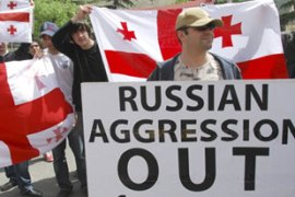 There has been protests over Russian troop mobilisation in Abkhazia [AFP]