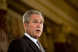 Bush has vowed to veto any legislation linked to an Iraq US troop withdrawal [AFP]